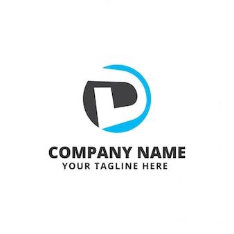 Logotipo azul y negro con la letra d