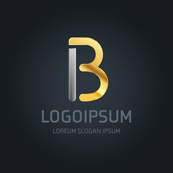 Logotipo b oro y plata