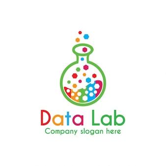 Logotipo colorido de laboratorio