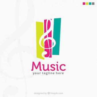 Logotipo colorido de música