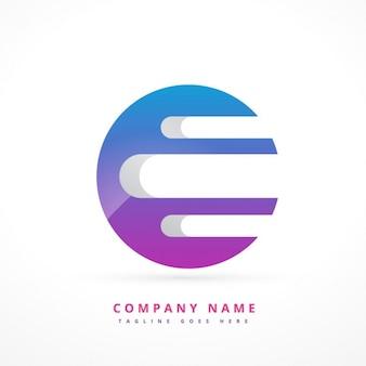 Logotipo con forma circular