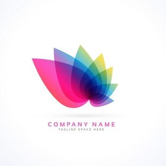Logotipo con hojas abstractas