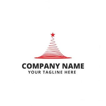 Logotipo con un árbol de navidad