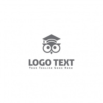 Logotipo con un búho sabio