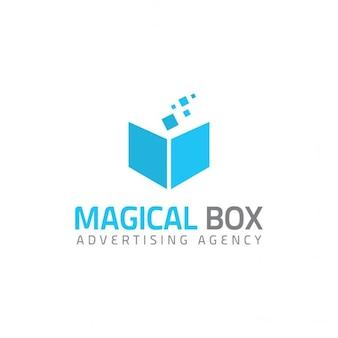 Logotipo con un libro azul