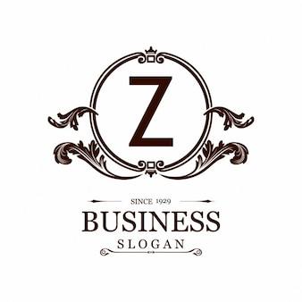Logotipo con un marco ornamental y la letra z