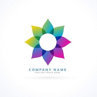 Logotipo con una flor abstracta