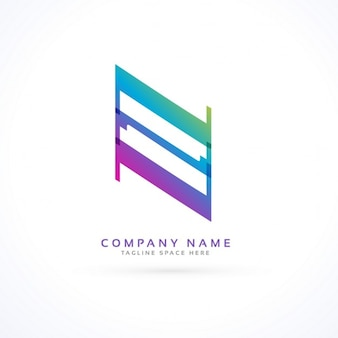 Logotipo con una forma geométrica abstracta