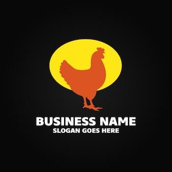 Logotipo con una gallina