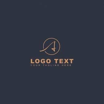 Logotipo creativo de la letra a