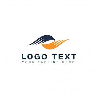 Logotipo de agencia de viajes con alas