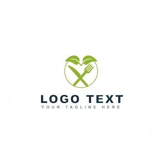 Logotipo de alimentos verdes