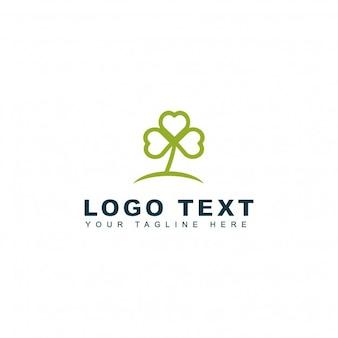 Logotipo de amor y hojas
