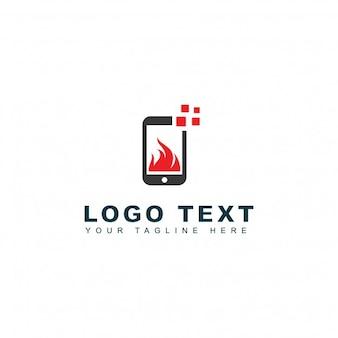 Logotipo de aplicaciones calientes