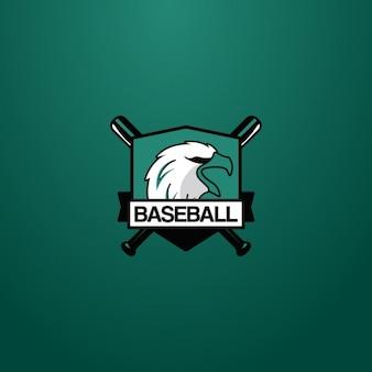 Logotipo de béisbol con un águila