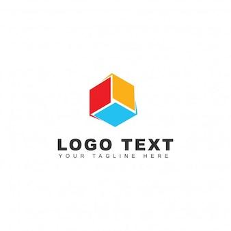 Logotipo de caja 3d