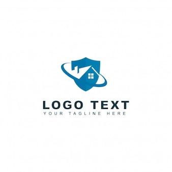 Logotipo de casa segura