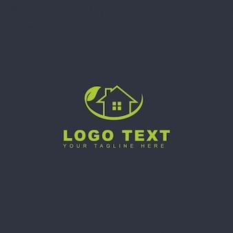 Logotipo de casa verde