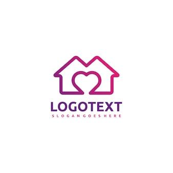Logotipo de casa y amor