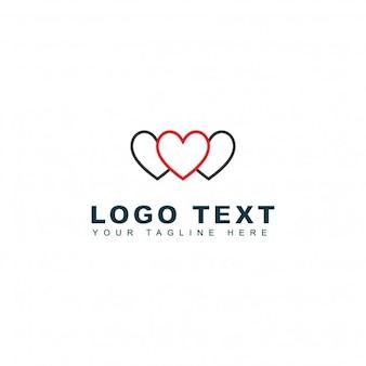 Logotipo de corazones vinculados