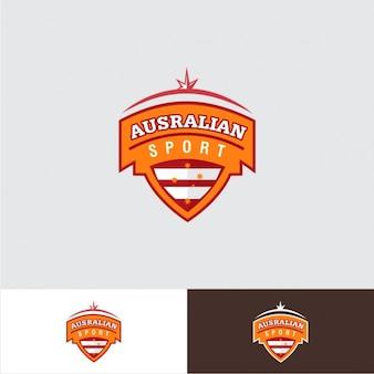 Logotipo de deporte en forma de escudo