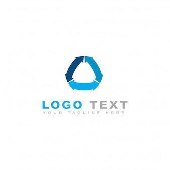 Logotipo de flechas azules