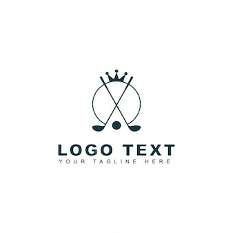 Logotipo de golf real