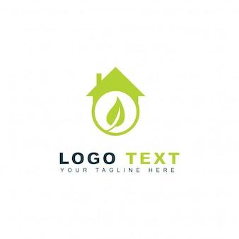 Logotipo de hogar verde