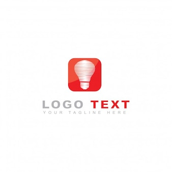 Logotipo de idea y bombilla