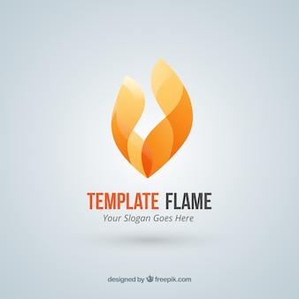 Logotipo de la llama Fuego abstracto