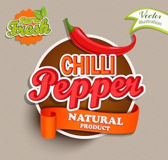 Logotipo de la pimienta de chile.