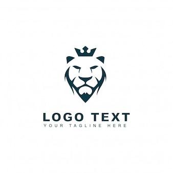 Logotipo de león rey