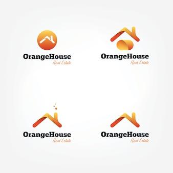 Logotipo de los tejados de la casa del vector