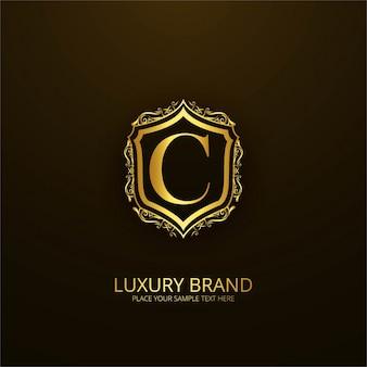 Logotipo de lujo ornamental de la letra c
