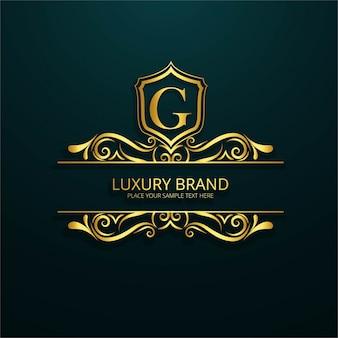 Logotipo de lujo ornamental de la letra g