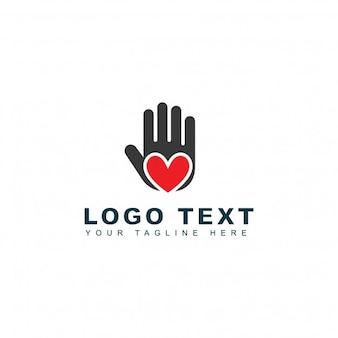 Logotipo de mano que ayuda