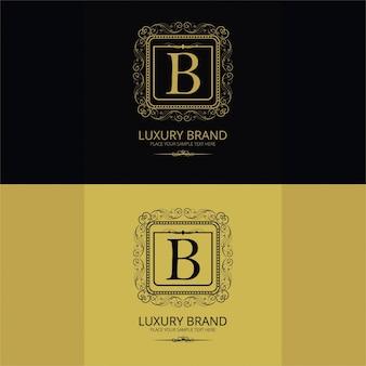 Logotipo de marca de lujo de la letra b