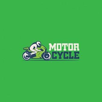 Logotipo de motos sobre un fondo verde
