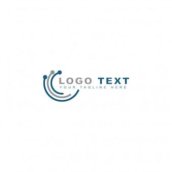 Logotipo de mundo tecnológico