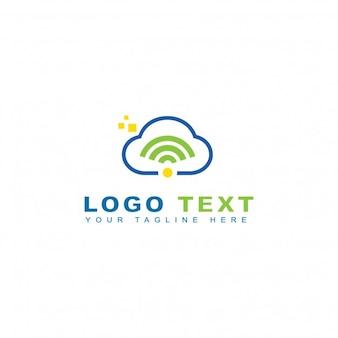 Logotipo de nube y tecnología