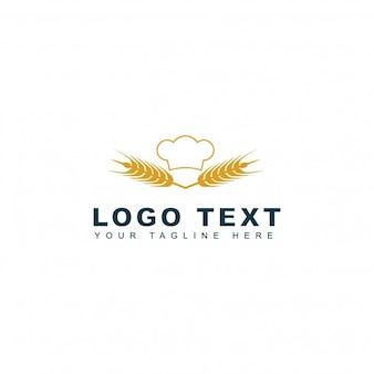 Logotipo de panadería y trigo