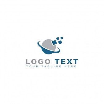 Logotipo de píxeles orbitales