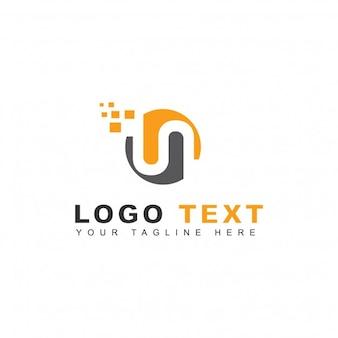 Logotipo de pixels de letra n