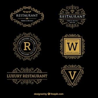 Logotipo de plantillas ornamentales de lujo