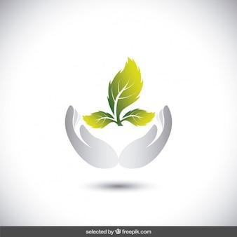 Logotipo de protege el medio ambiente