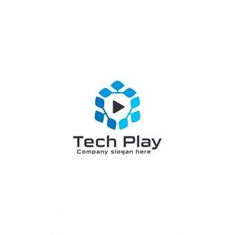 Logotipo de tecnología de reproductor