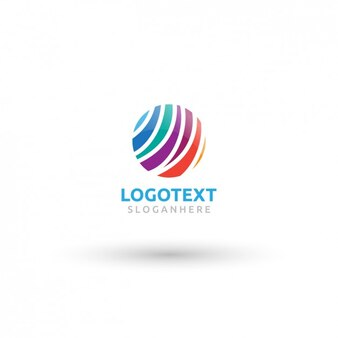 logotipo del círculo colorido