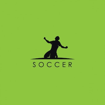 Logotipo del fútbol, fondo verde