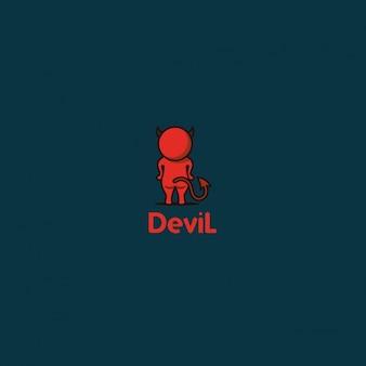 Logotipo diablo de espaldas