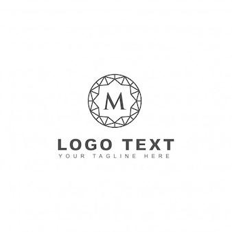 Logotipo elegante de la letra m
